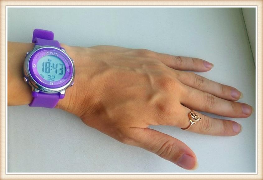 2018 OHSEN Brand Digital LCD Kids Girls Fashion Wristwatch Cute Girl Rubber Strap 50M Waterproof Child Watches Alarm Hand Clocks (26)