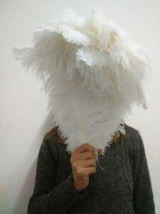 Image 4 - 50 pc qualidade penas de avestruz branco, 16 18 polegadas/40 45 cm, DIY decorações de casamento