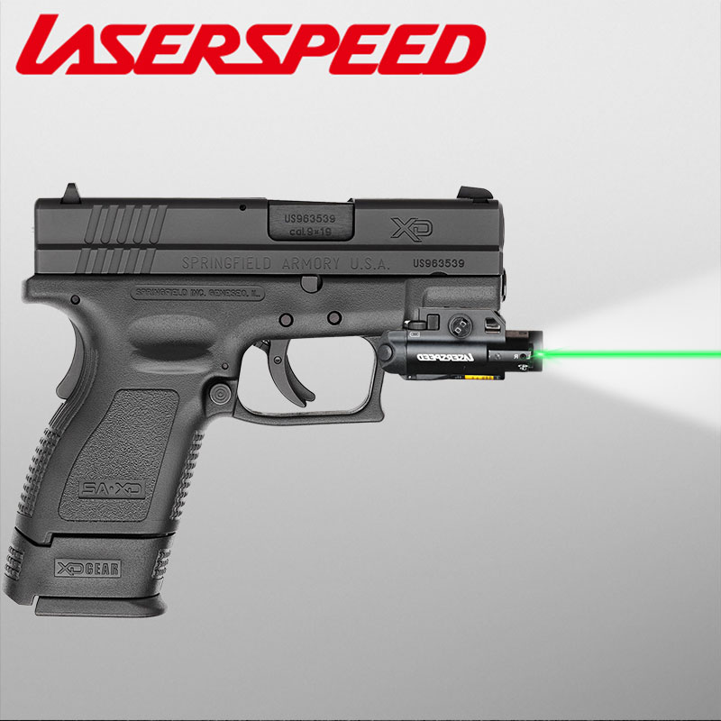 ls cl7 compacto laser luz combinacao pistola laser verde infravermelho vermelho dot laser tatico led arma