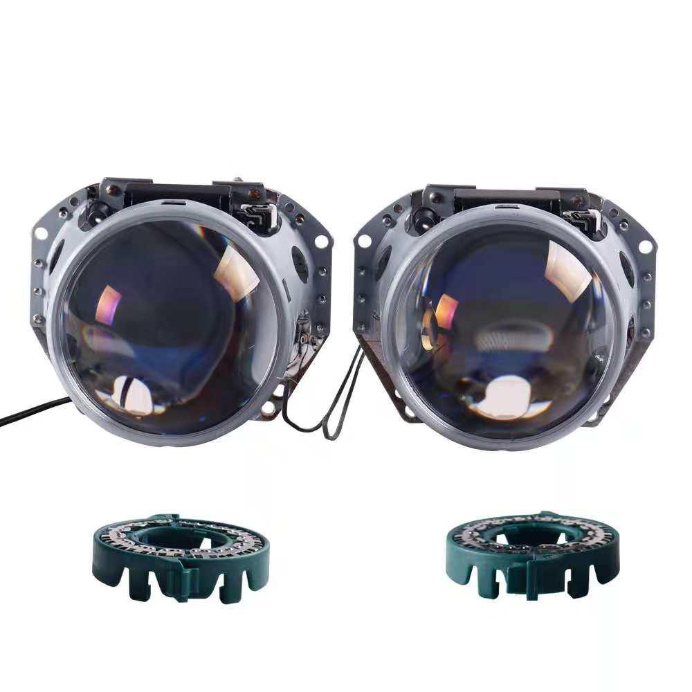 HID Bixenon pour projecteur Hella G5 Film bleu lentille Auto voiture phare phare rénovation bricolage D1S D2S D3S D4S mise à niveau 3.0'' - 4
