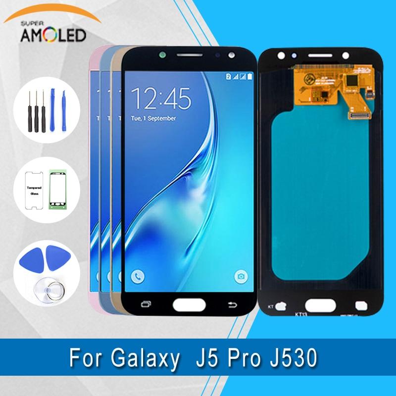 Samsung J5 PRO 2017 LCD Pour Samsung Galaxy J5 2017 J530F écran LCD + numériseur à écran tactile Super Amoled J5 2017 Affichage LCD