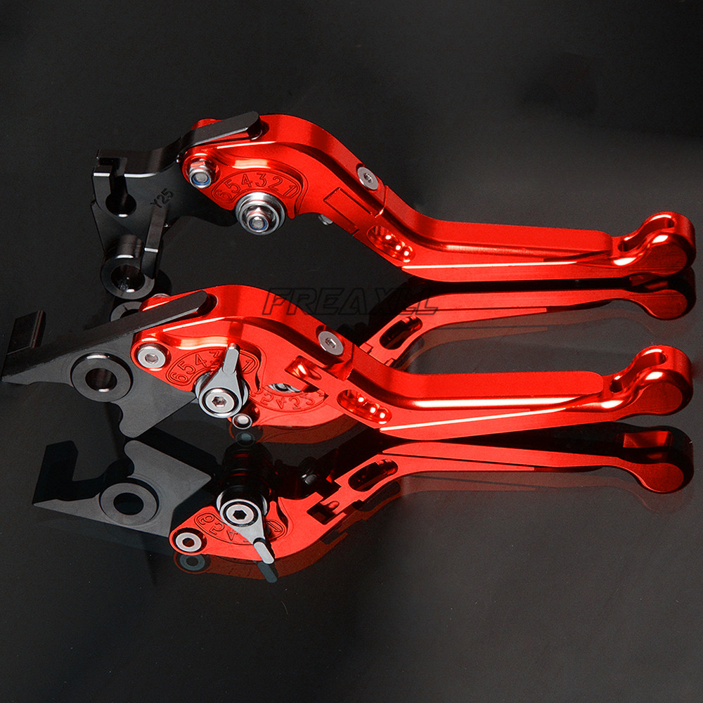 FREAXLL Aluminum Motorbike Levers Foldable Extendable Adjustable Motorcycle Brake Clutch for BMW S1000R S1000RR S1000XR