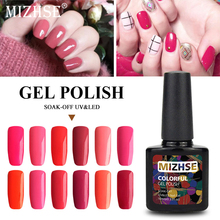 MIZHSE Nail Gel Polish 10ml Hybrid Varnish For Art Soak off LED UV  Esmalte Permanente Lacquer Nai