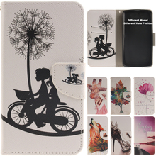 Fashion Cartoon Holder Stand PU Leather Wallet Flip Case Cover For Samsung Galaxy A3 A5 A9 J1 J5 2015 On5 Cases Covers Coque