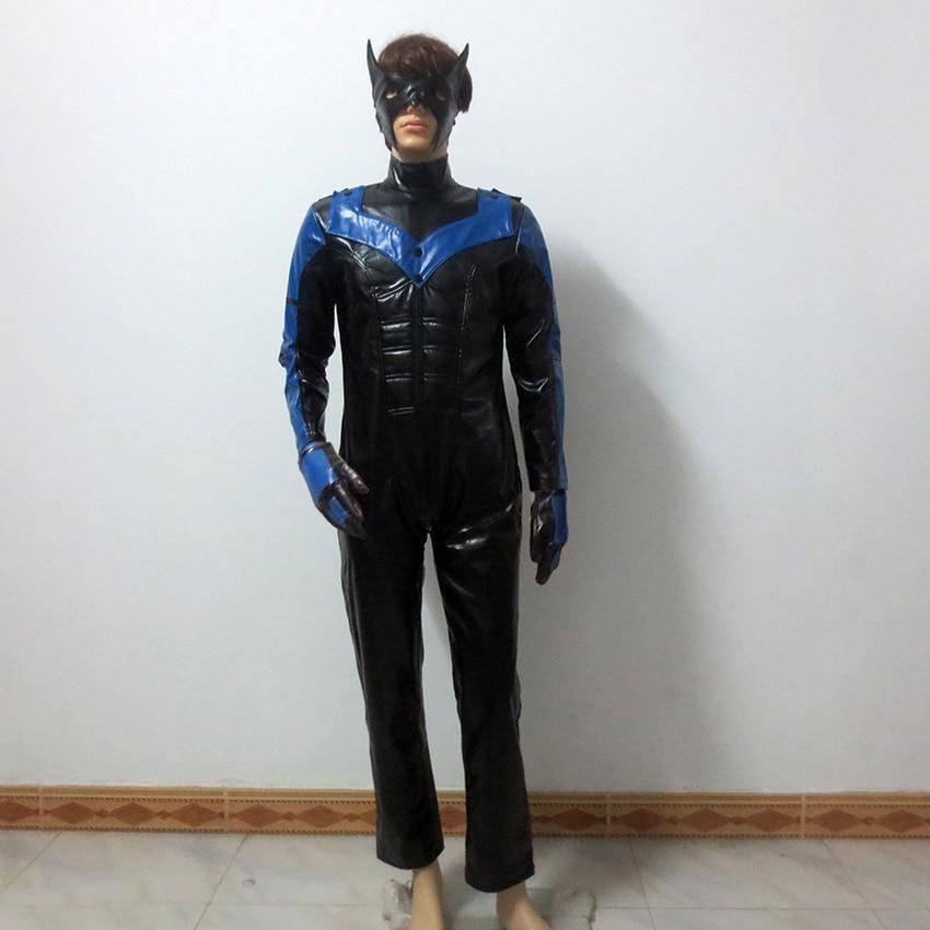 Halloween Costumes For Adult Men Superhero Batman Arkham City Nightwing Costume Cosplay Batman Nightwing Cosplay Costume