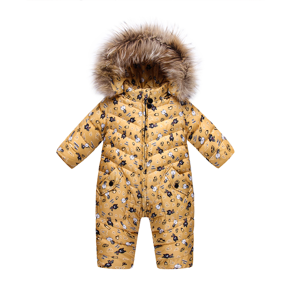 Down children winter jumpsuit lovely baby girls winter snow coat warm boys snowsuit overalls Kids fur hooded outerwear clothing 2 pcs children set baby boys girls clothing sets winter hooded down jackets trousers waterproof thick warm kids outerwear xl242