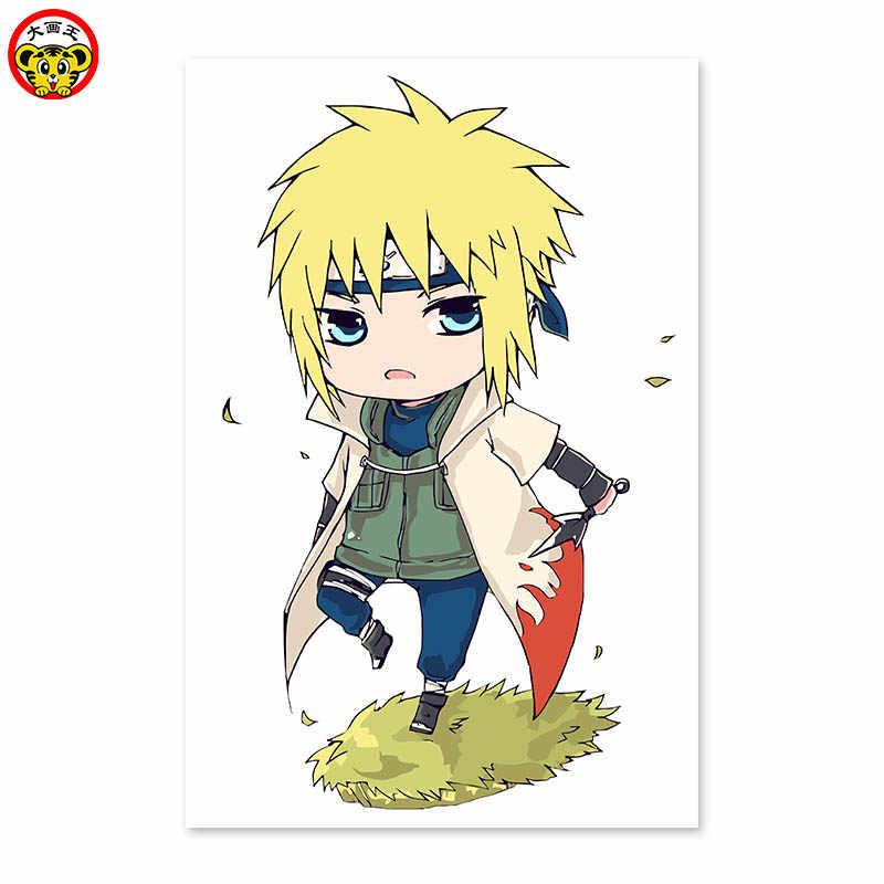 Khuếch tán Naruto, đẹp trai, cậu bé, áo gió, tóc vàng, mắt xanh, Kỹ Thuật Số TỰ LÀM, vẽ trên vải bằng kỹ thuật số