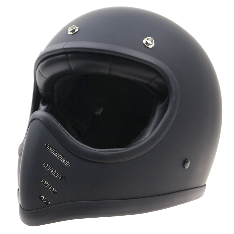 THH Retro Motorbike Helmet Old Bike Style full face helmet Cafe racer casco can fit bubble shield