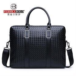 FEIDIKABOLO Модные Тканые горизонтальные для мужчин сумки новый высокое качество повседневное большой ёмкость сумка
