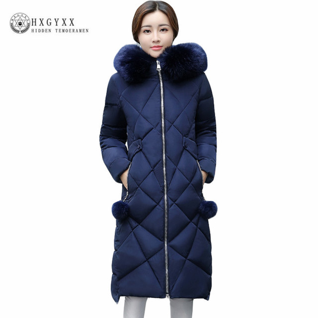 2017 Women Winter Jackets And Coats Warm Slim Quilted Parka Furry ... : quilted winter jackets - Adamdwight.com