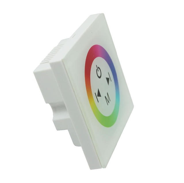 LED TM08 RGB Controlle DC12V-24V 3 Channels 4A/Channel Common Anode Touch Panel Wall Mounted Switch Full Color