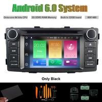 Quad Core Android 5.1 ARABA DVD GPS TOYOTA HILUX 2012 araba stereo için araba gps Kapasitif dokunmatik ekran 16 GB Rom