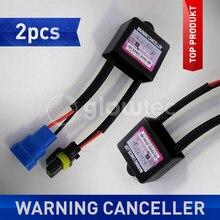 2 pcs Luzes Decodificador Cancelador de Aviso HID Xenon Kits HID Lâmpada Xenon Relé Capacitor de Carga Resistor Erro Canbus Decoder GLOWTEC,