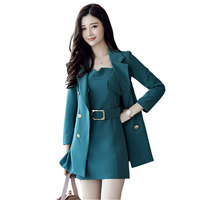 Autumn winter women two piece set long trench coat + sexy dress tracksuit 2017 new fashion suits quality 2 piece set crop top