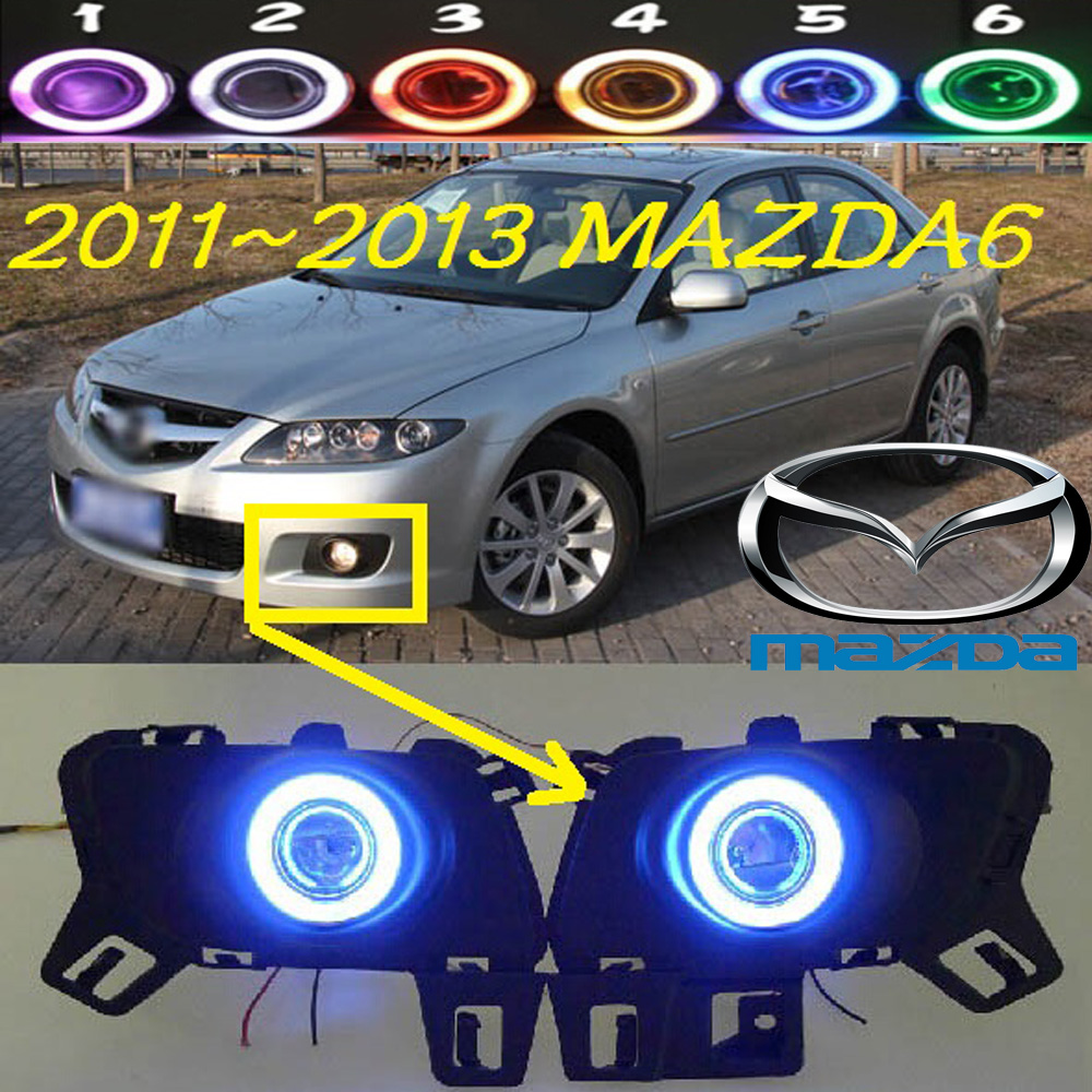 MAZD6 fog light ,2011~2013, Free ship! MAZD 6 daytime light,2ps/set+wire ON/OFF:Halogen/HID XENON+Ballast,MAZD6 2011 2013 golf6 fog light 2pcs set wire of harness golf6 halogen light 4300k free ship golf6 headlight golf 6