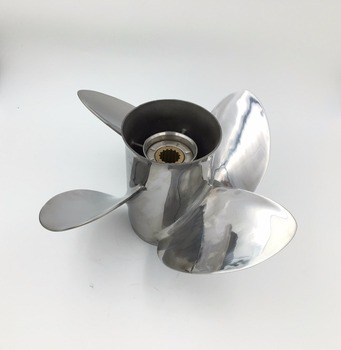 4 Blade 13x19 for hidea Propellers STAINLESS STEEL Propeller fit hidae 60-115 hp engine cheap boat motors outboard propeller