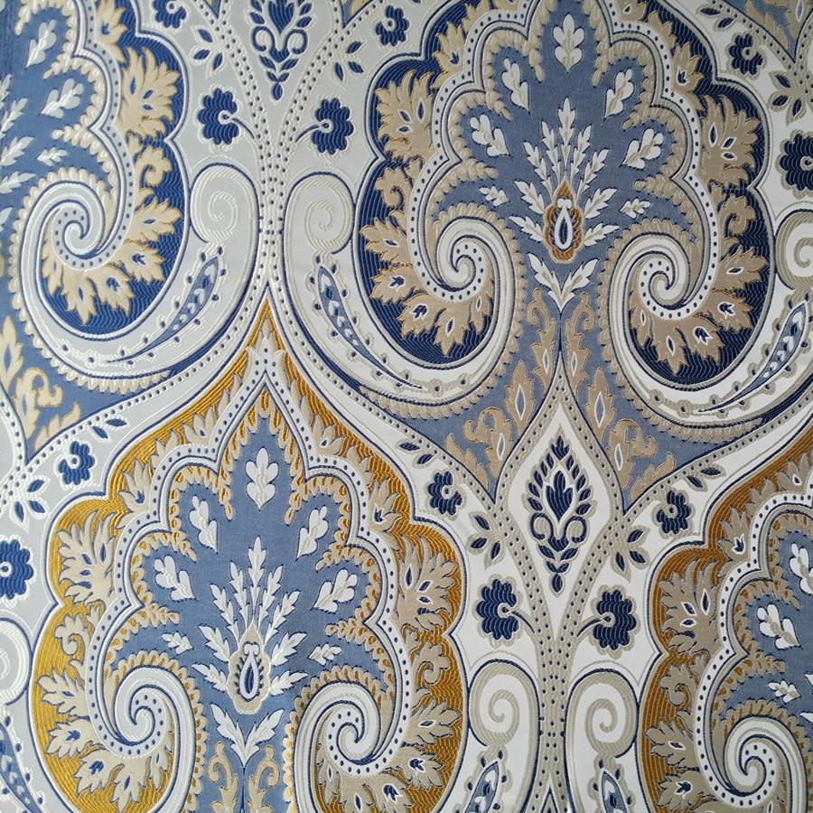 Aliexpress Com Buy Classic Blue Paisley Damask Jacquard