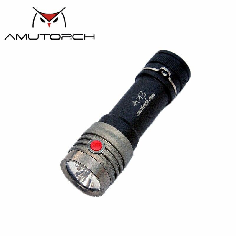 Amutorch AX3 2x XP L HD 2500LM EDC 18650 LED Flashlight Outdoor Mini Torch