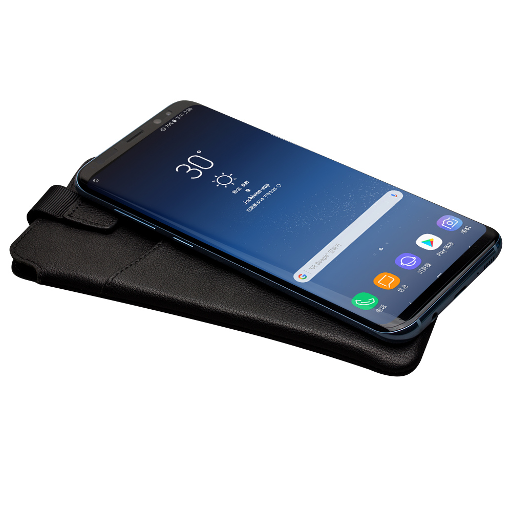 QIALINO Luxury Genuine Leather Wallet Phone Bags Case For Samsung S8 Plus Cover for Samsung S8+ Ultrathin Soft Brand Cover Purse