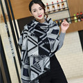 2016 New Style Hot Sale Print Geometric Plaid Cashmere Pashmina Scarf Women Trendy Multicolor  Warm Winter  Blanket Scarf Shawl