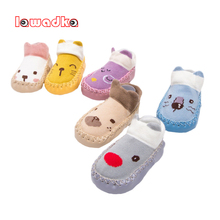 Baby Socks Anti-Slip Newborn Toddler Girls Lawadka Cotton for Autumn Winter