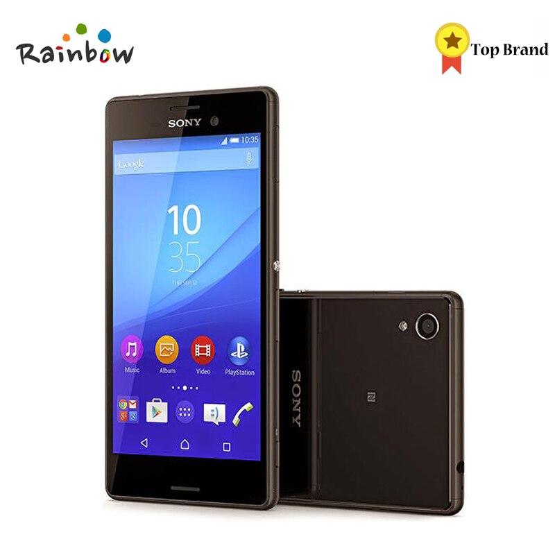 Sony Xperia M4 Aqua Dual E2363 Dual Sim Original Smartphone Android 2G RAM 16GB ROM GPRS GPS Wi-Fi 5.0 inch 2400mAh Battery