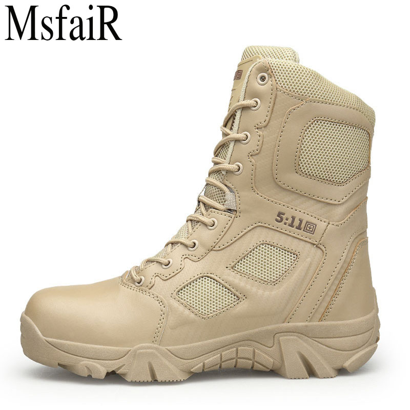 MSFAIR Outdoor Hiking Shoes For Men Mountaineering Climbing Mountain Sports Brand Hunting Trekking Breathable Men's Sneakers esdy esdy44 2 anti slip breathable outdoor climbing mountaineering hiking athletic shoes 44