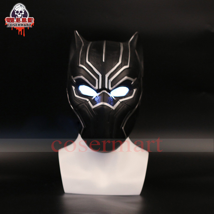2017 New Captain America Helmet Black Panther Helmet  Civil War Cosplay Mask  Halloween Party Prop (1)