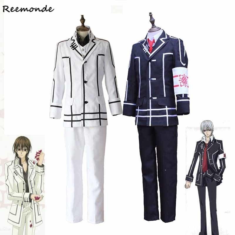 Anime Vampire chevalier Cosplay Costumes Clan Kaname Kiryu zéro veste gilet pantalon ensemble complet uniforme scolaire pour hommes garçons vêtements