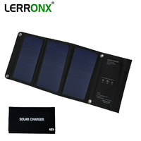 Portable foldable Solar Panels 21W 3.5A waterproof sunpower 5V solar mobile charger for phones outdoor camping solar panel