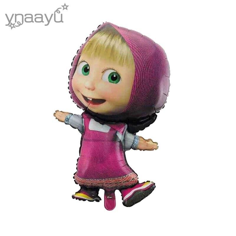 Ynnayu 1pcs Girl Balloon Cute Cartoon Aluminium Balloons Birthday Party Children`s Toy Party Decoration