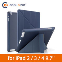 protective pu leather TPU Soft Tablets Case For iPad 2/3/4 Multi-fold Protective Cover Smart Wake Up Sleep PU Leather Tablet Case For iPad 2 3 4 Case (1)