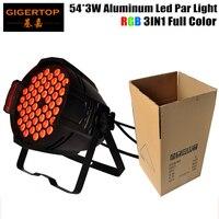 TIPTOP TP-P54B Dimmable 알루미늄 파 바 정착물 54x3W RGB 풀 컬러 25도 렌즈 주조 파 64 캔 90V-220V