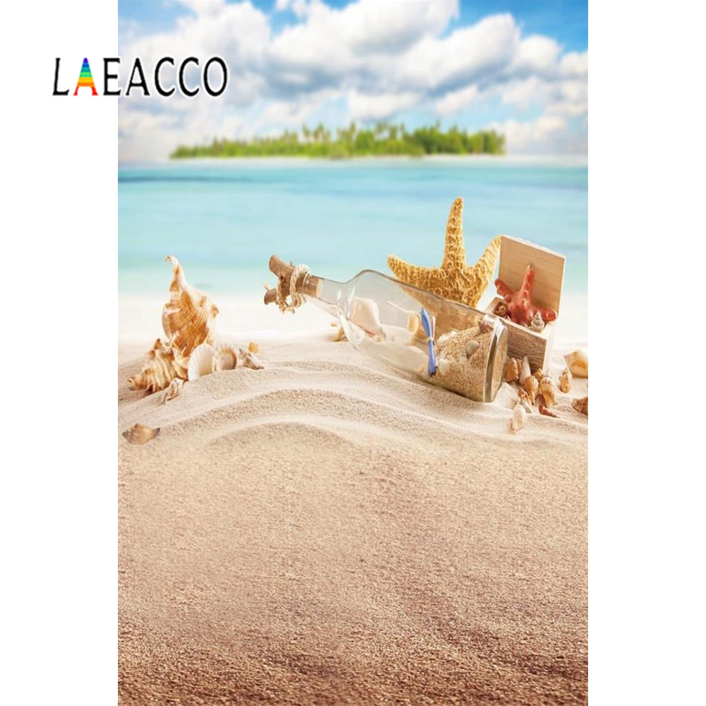 Yeele  Seaside Beach Starfish Shell Coral Sand Holiday Tropical Summer Scenic Photo Background Photography Backdrop Photo Studio