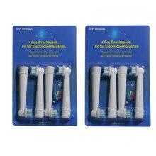 80PCS(4 PÇS/SET 20 SET/LOTE) Para Braun Oral B escova de Dentes Elétrica Cabeças de Substituição Vitality Precision