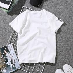 2019 Summer Couples Lovers T-Shirt for Women Casual White Tops Tshirt Women T Shirt Love Heart Embroidery Print T-Shirt Female 4