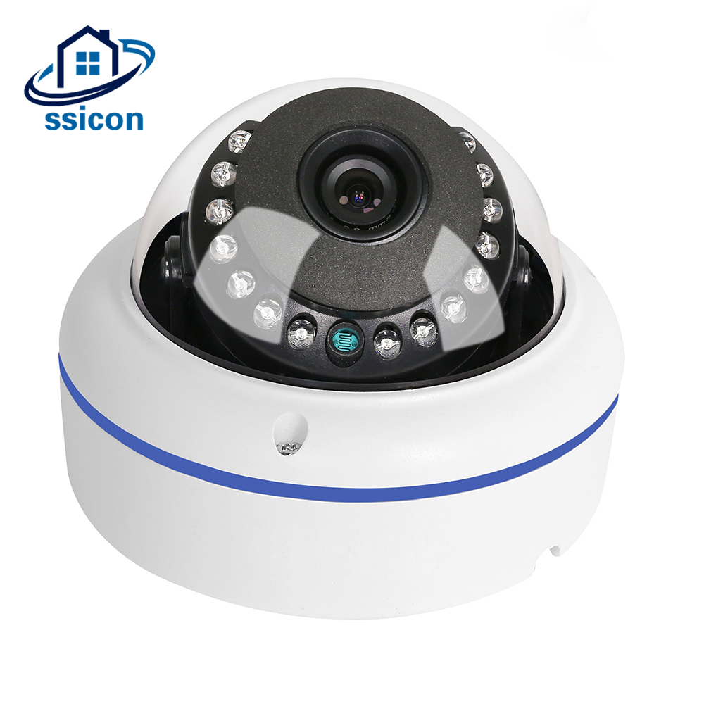 SSICON Wide Angle 4MP AHD Camera Fisheye Home Security Small Size 360 Panoramic Surveillance Camera Indoor 20M IR Night Vision ssicon indoor 4 in 1 analog camera 1080p home security 20m ir distance night vision surveillance cctv cameras with osd menu
