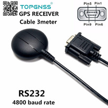 5 шт. высокое качество RS232 уровень 4800 скорость передачи данных кабель 3 м DB9 гнездовой разъем gps приемник, водонепроницаемый gps антенный модуль приемника