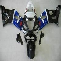 Customize body work fairings for GSXR 1000 03 04 GSXR1000 body kit 2003 2004 dark blue black fairing set D