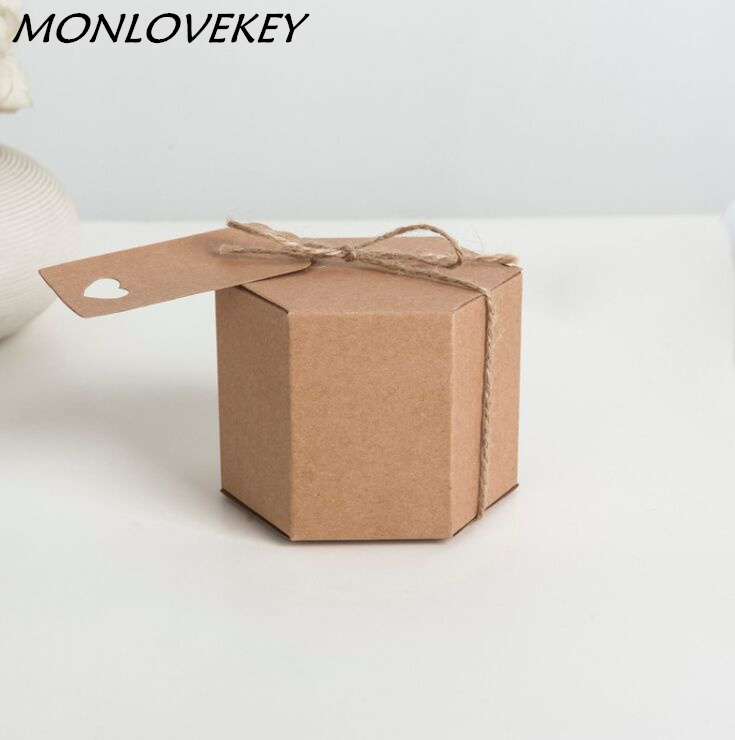 Brown Kraft Paper Boxes For Gift Packaging Wedding Gift Packaging For Guest Kraft Cardboard Boxes For Packaging 8.5*7CM