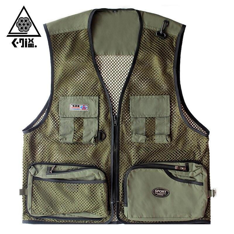 Summer quick dry mesh fishing vest men women breathable for Women s fishing vest
