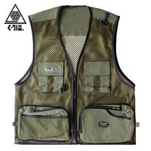 Summer Quick Dry Mesh Fishing Vest Men Women Breathable Fishing Wear Multiple Pockets Outdoor Photography Vest M-4XL