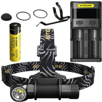 FREE SHIPPING NITECORE HC33 1800 Lumens Headlamp + SC2 Charger + 18650 Battery Headlight Waterproof Flashlight Outdoor Camping