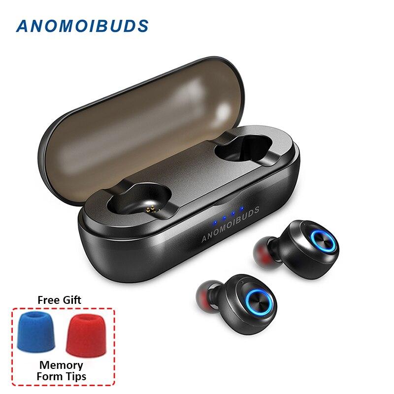 Cápsula Pro 50 Anomoibuds Horas Playtime Apoio AAC TWS V5.0 Fones de Ouvido Bluetooth Fone de Ouvido Hi-Fi Stereo Som do Fone de Ouvido Graves Profundos