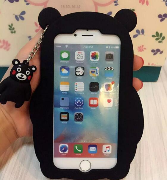 quality design 6cd71 4245a US $3.37 |Japanese Bear Silicone Phone Cover Cute Black Bear Phone Case for  iphone 5 SE 6/6plus on Aliexpress.com | Alibaba Group