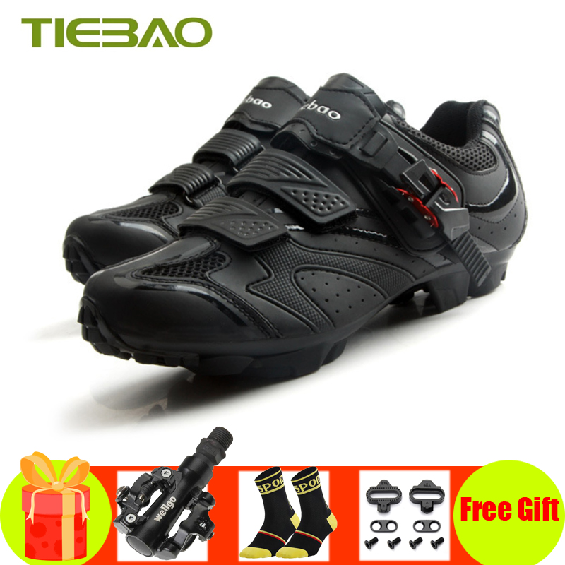 TIEBAO Sapatilha Ciclismo Mtb 2019 Men Women SPD Cleats Pedals Cycling Shoes Mountain Bike Self-locking Athletic Riding Sneakers