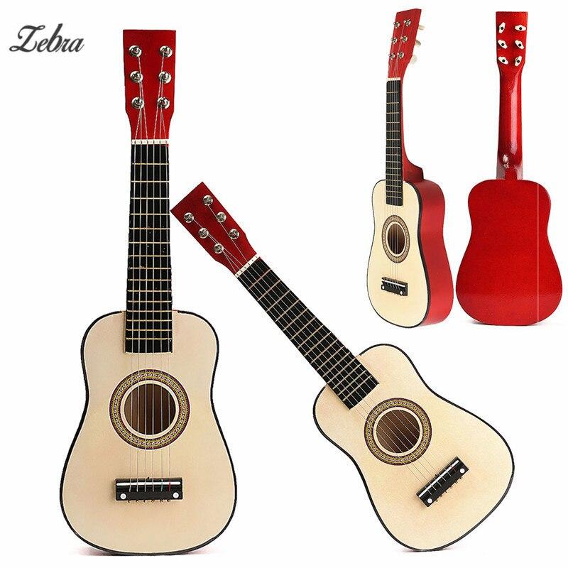 Zebra 23 6-String Wooden Folk Acoustic Guitarra Guitar Ukulele for Ukelele Music Instruments Lovers Beginners +Wire Strings