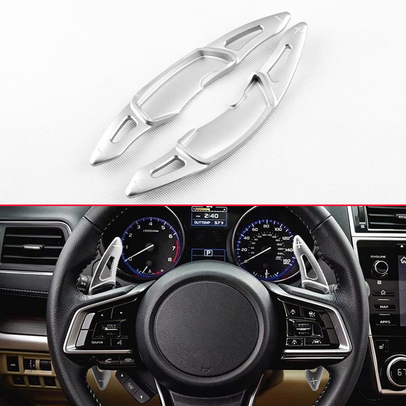 Silver Aluminum Alloy Car Steering Wheel Gear Shift Cozy Paddle For Subaru BRZ Forester SJ Outback XV Crosstrek Legacy Impreza aluminum alloy 25t steering servo horn