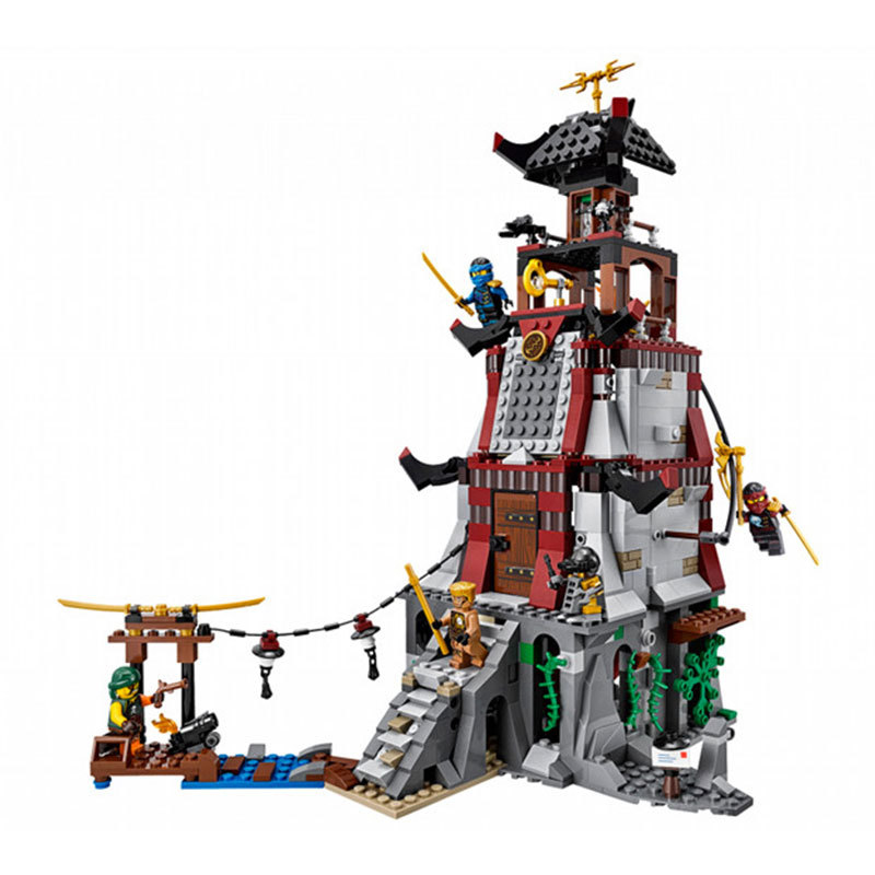 06037 850pcs Ninja Lighthouse Siege Building Block Compatible Legoing Ninjagos 70594 Brick Toys For Children Boys Gifts new building blocks ninja emmet wyldstyle sheriff gordon zola bad cop robo swat brick toys for children l009 016