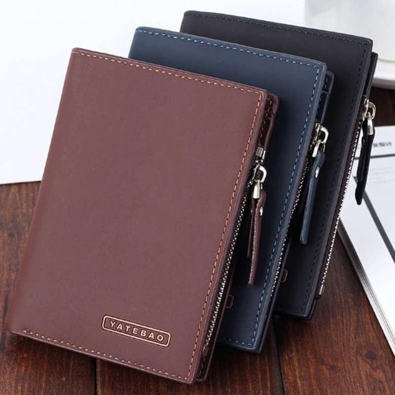 Dollar price wallet purse carteira masculina wallets men carteras leather famous brand short monederos purses man zipper coin weichen top quality cow genuine leather men wallets luxury dollar price short style male purse carteira masculina original brand
